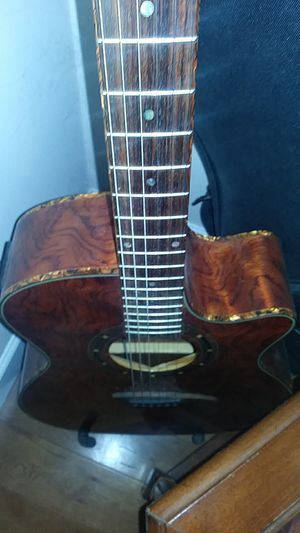Dean amplified acoustic RARE BUBINGA wood for Sale in Hugo, MN