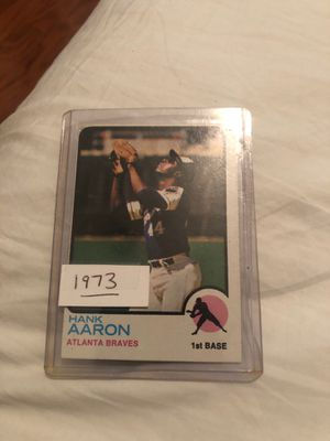 1973 Hank Aaron baseball card 100 for Sale in Pflugerville, TX