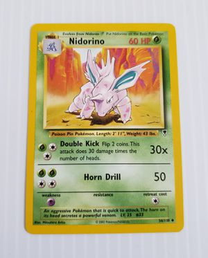 POKEMON Nidorino 60HP 56/110 Genuine 2002. for Sale in Adelphi, MD