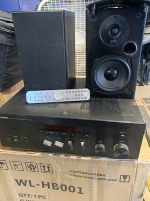 Yamaha receiver Polk audio speakers. for Sale in Hanford, CA