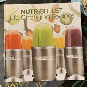 Nutri Bullet Recipe book for Sale in Dumont, NJ