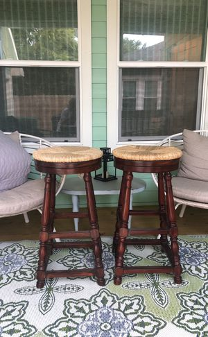 2 wooden bar stools for Sale in Houston, TX