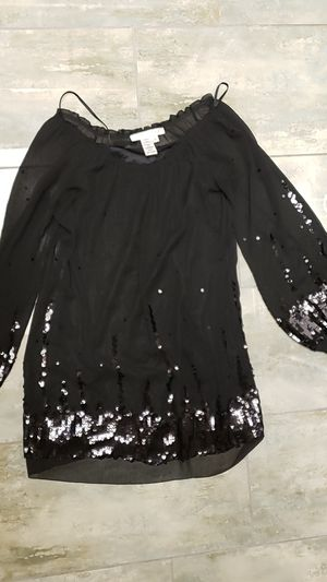 Studio M size small s black translucent with sequins shirt or dress baby doll goth punk glam Halloween costume drag for Sale in Scottsdale, AZ