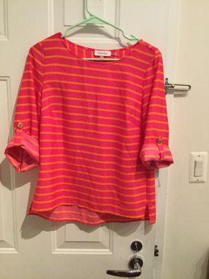Pink Calvin Klein Blouse Shirt Top with Orange strips for Sale in Washington, DC