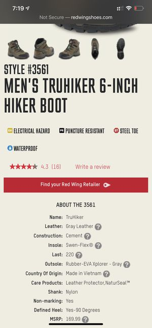 Work boots, redwing for Sale in Jackson Township, NJ