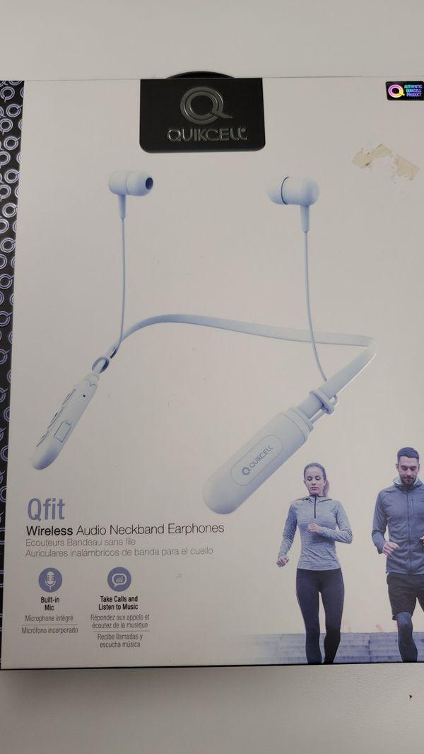 Qfit wireless neckband earphones