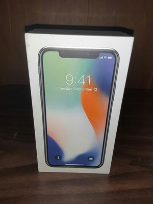 No phone just box and accessories for IPhone X Silver 64GB for Sale in Waldorf, MD