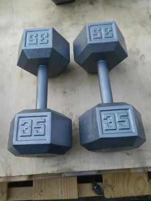 35Lb Hex Dumbbells. $45 Firm for Sale in Compton, CA