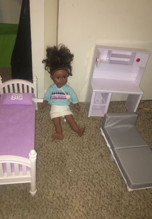 Doll with furniture for Sale in Montclair, CA