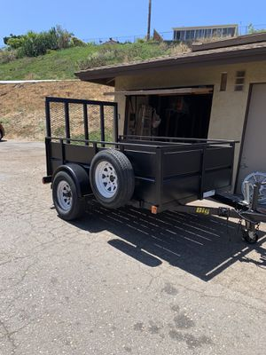 Big Tex Utility Trailer 5ft x 8ft with Ramp & spare tire, BIG RIM AND TIRES. PERFECT FOR EVERYTHING for Sale in Oceanside, CA