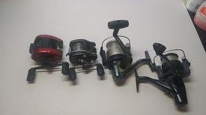 Lot of 4 fishing reels for Sale in Winter Haven, FL