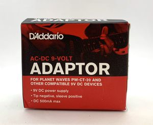 PW-CT-9V Regulated AC-DC 9V Adaptor Guitar Pedal Power Planet Waves D'Addario Eb for Sale in Fontana, CA