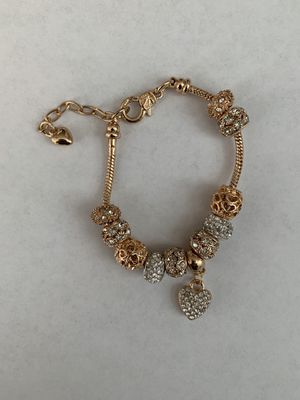 Bracelets 18k gold plated snake chain with pendant for Sale in Antioch, CA