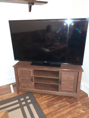 55in Sanyo Flatscreen with Samsung surround sound system for Sale in Birdsboro, PA
