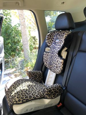 2 BRITAX Booster Seats in leopard print $50 each for Sale in Davis, CA