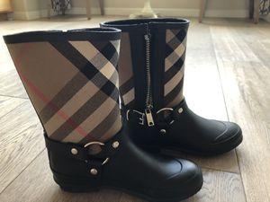 Burberry rain boots size 35 for Sale in Santa Clara, CA