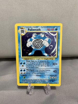 Poliwrath Base Set Unlimited Holo Pokemon Card for Sale in West Palm Beach, FL