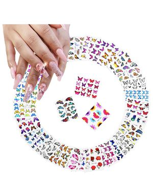 Butterfly Nail Art Stickers, 30 Sheets Nail Decals Butterfly Flowers Design Nail Stickers Manicure Tips DIY Nail Decoration (More Than 400Pcs) for Sale in Brooklyn, NY