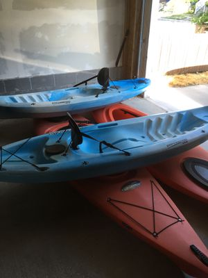 4 kayaks (two ocean & 2 traditional) and two paddles for Sale in Salt Lake City, UT