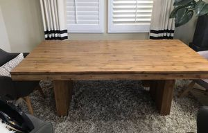 Acacia wood Designer solid reclaimed wood Dining table Only for Sale in San Diego, CA