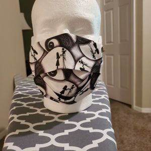 Nightmare Before Christmas Swirls Face Mask for Sale in Clermont, FL