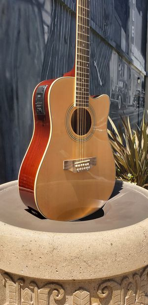 New 12 String Requinto Cutaway Acoustic-Electric Thin Body Guitar Natural for Sale in Downey, CA