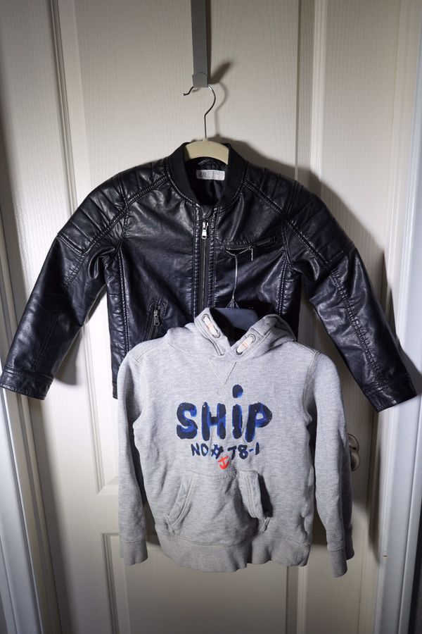 Jacket + Hoodie, H&M, Sizes 6-7