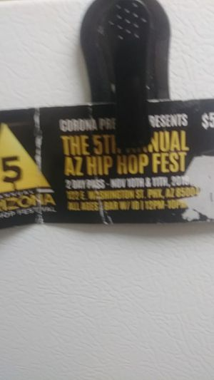 Ticket 5th annual hip hop fest for Sale in Tempe, AZ