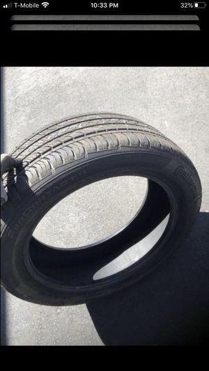 Set of 3 tires all 215/50/17. One Continental 90% tread, One Firestone like new 95% tread, & One Falken new take off 95% tread for Sale in Temecula, CA
