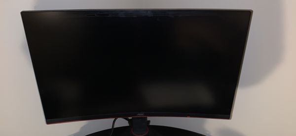 AOC 27 inch curved 144Hz gaming monitor