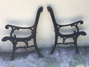 Antique Cast Iron Park Bench Sides Legs Panels for Sale in Tampa, FL