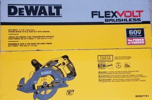 DEWALT FLEXVOLT 60-Volt MAX Lithium-Ion Cordless Brushless 7-1/4 in. Wormdrive Style Circular Saw (Tool-Only) for Sale in The Bronx, NY