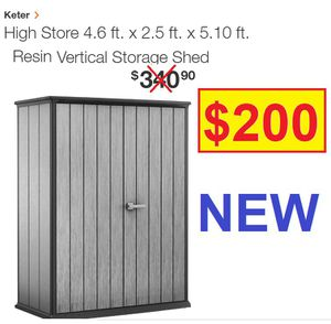 2.6ft x 4.7ft x 7.6ft KETER SHED for Sale in Las Vegas, NV
