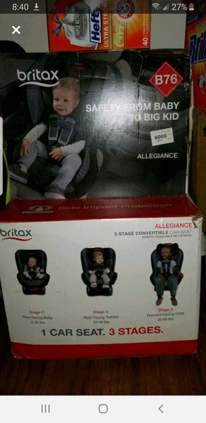 Britax Allegiance 3 Stage Convertible Car Seat for Sale in Winston-Salem, NC