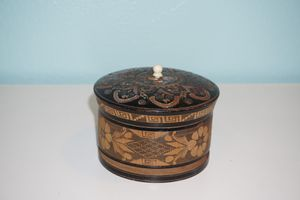 Handcarved Wooden Trinket Box for Sale in Los Angeles, CA