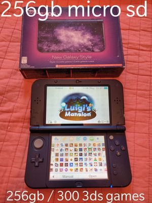 Purple galaxy Nintendo new 3ds xl with 300 3ds games , ds , 2ds , 256gb sd for Sale in Los Angeles, CA