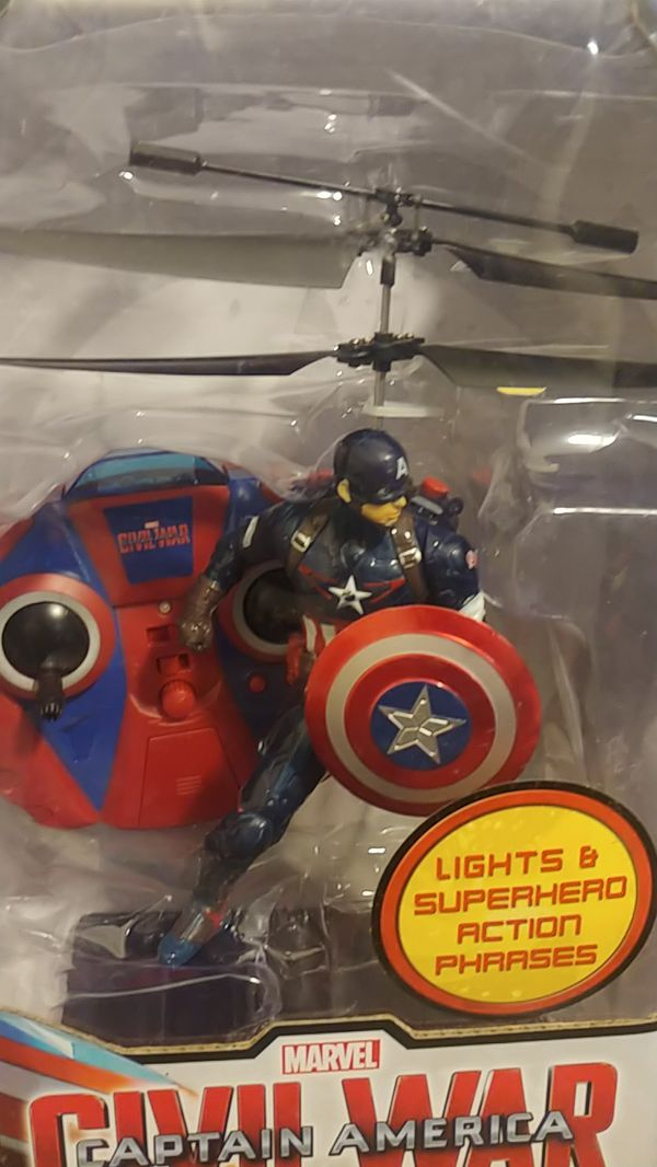Captain America flying helicopter