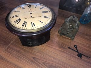 Antique British Fusee Railroad Wall Clock for Sale in Los Angeles, CA