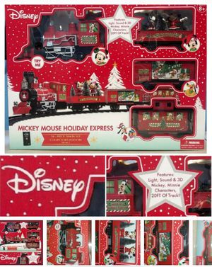 DISNEY MICKEY MOUSE HOLIDAY EXPRESS TRAIN SET G 36 PC LIGHT SOUND 20FT TRACK NEW for Sale in Simpsonville, SC
