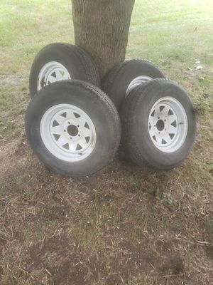 5 lug goodyear trailer tires 100 obo for Sale in Elburn, IL