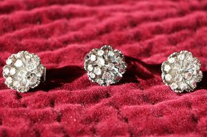 Vintage Atomic Domed Earrings & Ring Set - 42 Diamonds for Sale in Portland, OR