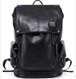 KAKA Leisure Laptop leather Backpack for Work - Black for Sale in Allen, TX