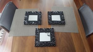 Small Decorative Wall Mirrors Set of 3 for Sale in Minneapolis, MN