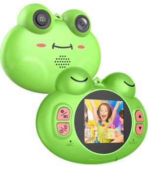 Kids Camera 1.54 Inch Digital Camera Gifts Mini Camera for 4-8 Year Old Boys/Girls with Lanyard Anti-Drop Cartoon Frog Children Camera Camcorders (16 for Sale in Modesto, CA