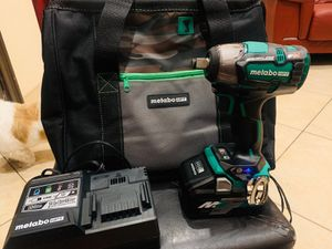 Metabo (hitachi) 1/2 inch impact with big 36v battery charger and bag for Sale in Brownsville, TX