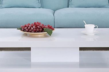 Mecor Modern Glossy White Coffee Table with LED Lighting, Contemporary Rectangle Design for Sale in Garden Grove,  CA