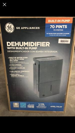 GE 70 pt. dehumidifier with built-in pump energy star for Sale in Houston, TX