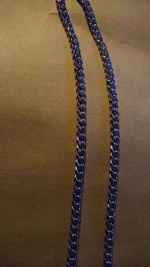 24 inch Cuban silver necklace for Sale in Lakewood Township, NJ
