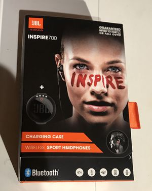 JBL Inspire 700 In-Ear Wireless Sport Headphones with Charging Case (Black) for Sale in Washington, DC