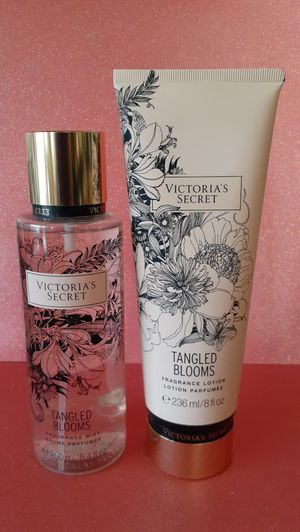🖤 Victorias Secret 🖤 TANGLED BLOOMS Fragrance Mist & Lotion 🖤 $28 🖤 DISCONTINUED! Gifts for all occasions!🖤 for Sale in Pomona, CA